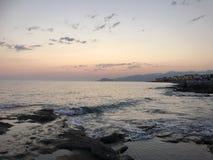Avond SAE suft in de baai van de stad stock foto's