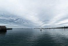 Avond, Santa Barbara Bay royalty-vrije stock afbeeldingen