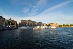 Avond Stockholm Stock Fotografie