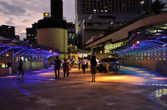 Avond van Osaka Nanba-station Royalty-vrije Stock Foto's