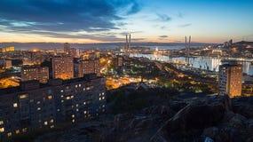 Avond Vladivostok Stock Afbeeldingen
