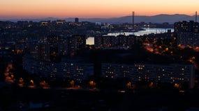 Avond Vladivostok Royalty-vrije Stock Fotografie