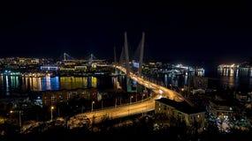 Avond Vladivostok Royalty-vrije Stock Foto's