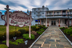 The Avondale By-The-Sea Hotel, in Cape May, New Jersey. Stock Photography