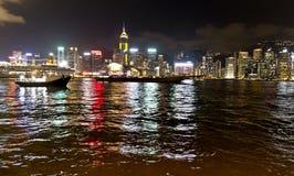 Avondharbour view in Hong Kong Royalty-vrije Stock Afbeelding