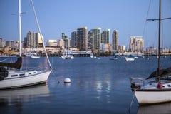 Avondlicht over San Diego Bay Royalty-vrije Stock Fotografie