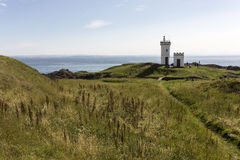 Avondmening van Elie Lighthouse in Fife stock foto