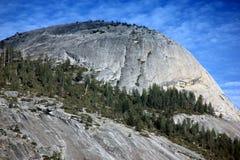 Avondmening van het Noordenkoepel, het Nationale Park van Yosemite, Californië Stock Fotografie