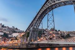 Avondmening van Porto Stock Fotografie
