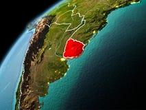 Avondmening van Uruguay ter wereld Royalty-vrije Stock Fotografie