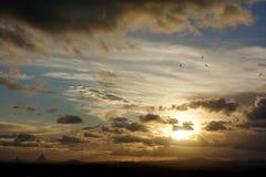 Avondonweren over Caloundra 3 Royalty-vrije Stock Foto's