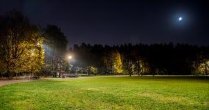 Avondpark in Vilnius royalty-vrije stock fotografie