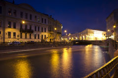 Avondst. petersburg, Rusland Royalty-vrije Stock Fotografie