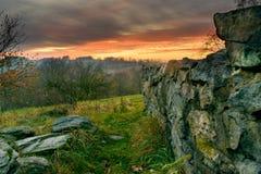 Avondstemming in ruïne-3 royalty-vrije stock fotografie