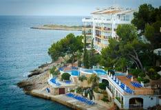 Avondstraten van Mallorca Royalty-vrije Stock Foto's