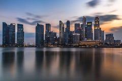 Avondtijd in Singapore royalty-vrije stock fotografie