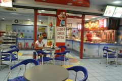 Avonduren in Paralia Stock Foto