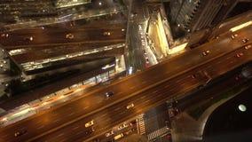 Avondverkeer in Toronto, Canada stock footage