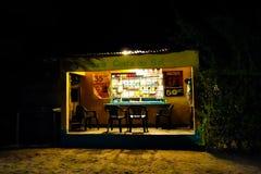 Avondwinkel in Mozambique, Afrika stock foto's