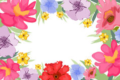 Avonlea Watercolor Flowers background Royalty Free Stock Images