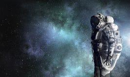 Avontuur van ruimtevaarder Gemengde media Royalty-vrije Stock Foto's