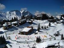 Avoriaz, eine Himmelstation in den französischen Alpen Stockbild