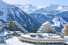 Avoriaz, France. View of the village and the surrounding area Avoriaz mountains Stock Photo