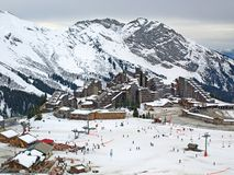 Avoriaz ski resort in the French Alps Royalty Free Stock Image