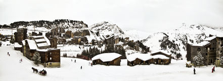 A  ski resort in the French Alps, Royalty Free Stock Image