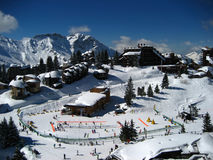 Avoriaz, a sky station in the French Alps. General view of Avoriaz, a sky station in the French Alps Mountains Stock Image