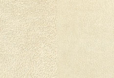 Avorio Terry Cloth Towel Fabric Fotografia Stock Libera da Diritti