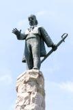 Avram Iancu雕象特写镜头-科鲁Napoca,罗马尼亚,欧洲 免版税图库摄影