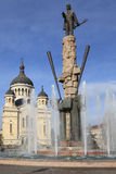 Avram Iancu Sqaure en Cluj Napoca, Rumania Fotos de archivo libres de regalías