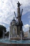 Avram Iancu Square Cluj Napoca, Rumänien Royaltyfri Bild