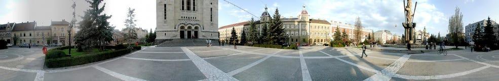 Avram Iancu Square, 360 grados de panorama Imagen de archivo libre de regalías