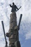 Avram Iancu staty, Cluj Napoca, Rumänien Arkivfoton
