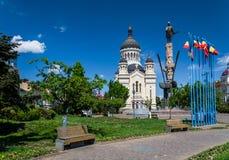 Avram Iancu广场,科鲁Napoca,罗马尼亚 库存照片