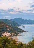 Avramis, παραλία Pelekas, Κέρκυρα, Ελλάδα Στοκ Εικόνες