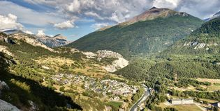 Avrieux -萨瓦省-法国 免版税图库摄影