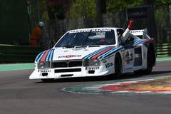 21 avril 2018 : Commande Lancia Martini Beta Montecarlo d'Emanuele Pirro pendant le festival 2018 de légende de moteur image stock