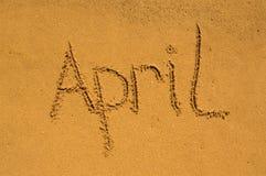 Avril dans le sable Photographie stock libre de droits