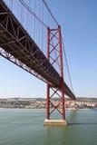 Avril 25 del ponte di Lisbona Fotografia Stock Libera da Diritti