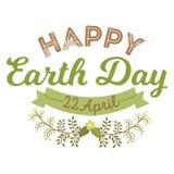 22 avril jour de terre du monde les logotypes ont placé pour les cartes de voeux ou la bannière avec le texte et les polices marq illustration stock