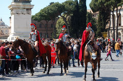 21 avril 2014, l'anniversaire de Rome Photo libre de droits