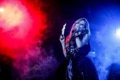 Avril Lavigne Performs In Jakarta royaltyfri foto