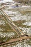 27 avril 2017 - MESA de HASTINGS près de RIDGWAY ET de TELLURURE LE COLORADO - antenne de l'hiver dans Nature, tellurure Photographie stock libre de droits