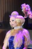 27 avril - Tel Aviv, ISRAËL - portrait d'une belle beauté de Cosmo de blond-modèle-OMC, 2015, Israël Images stock