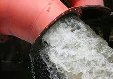 Avrinning för vattenrör Fotografering för Bildbyråer