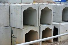 Avrinning U-Shape för färdiggjuten betong Royaltyfria Bilder