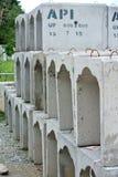 Avrinning U-Shape för färdiggjuten betong Arkivbild
